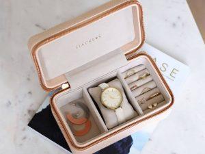 נרתיק תכישיטים ושעון מתנה יוקרתית ליום הולדת