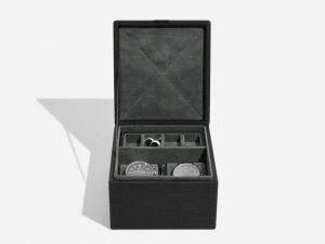 קופסה צבע שחור לגבר לאחסון מתנה יוקרתית ליום הולדת(