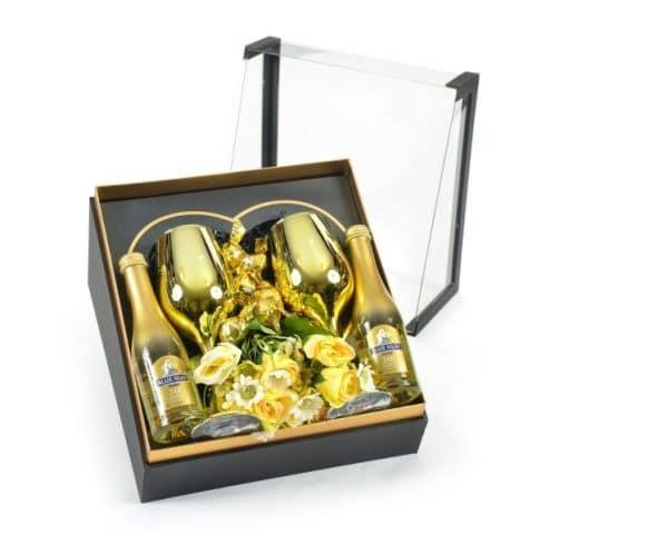 כוסות יין זרי פרחים ממש פרליני שוקולד